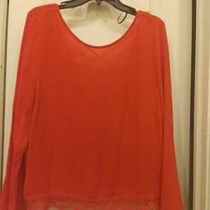 Nwt red coachella blouse